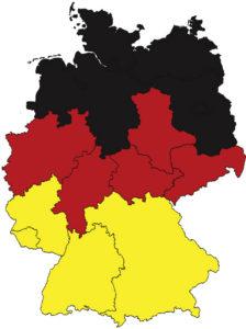 Karte BRD schwarz rot gold