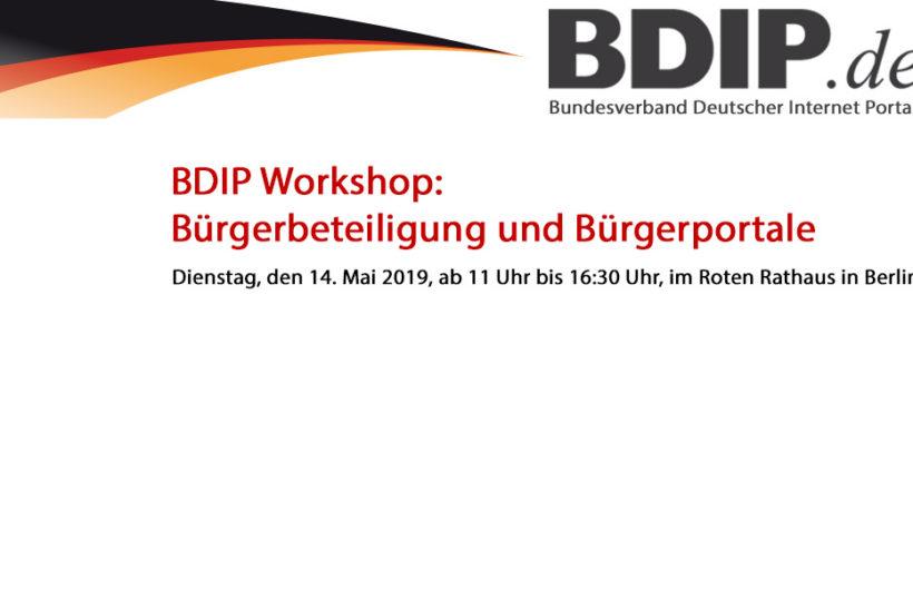 Verwaltung der Zukunft Workshop 2019: Bürgerbeteiligung und Bürgerportale